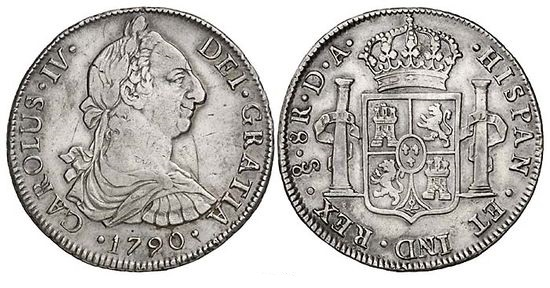 Santiago (Chile) 1790 8 Reales DA
