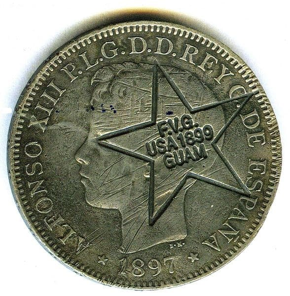GUAM - Coins Countermarked Philippines