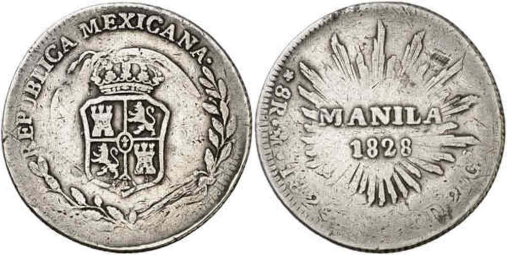 Republic of Mexico - Coins Countermarked Philippines