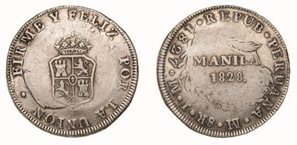 Republic of Peru - Coins Countermarked Philippines