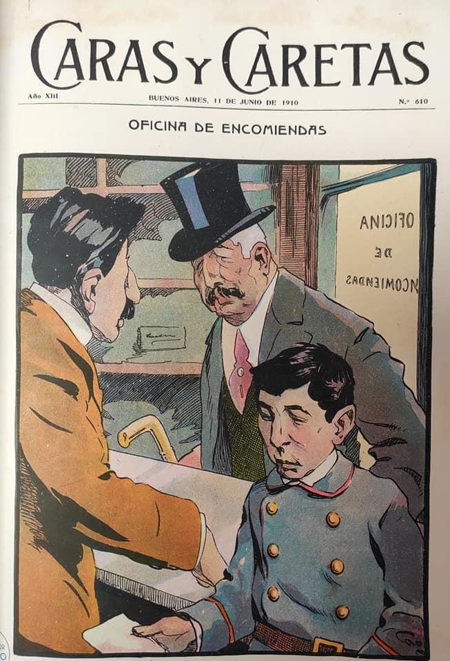 Caras y caretas Cao Luaces NOV 1910