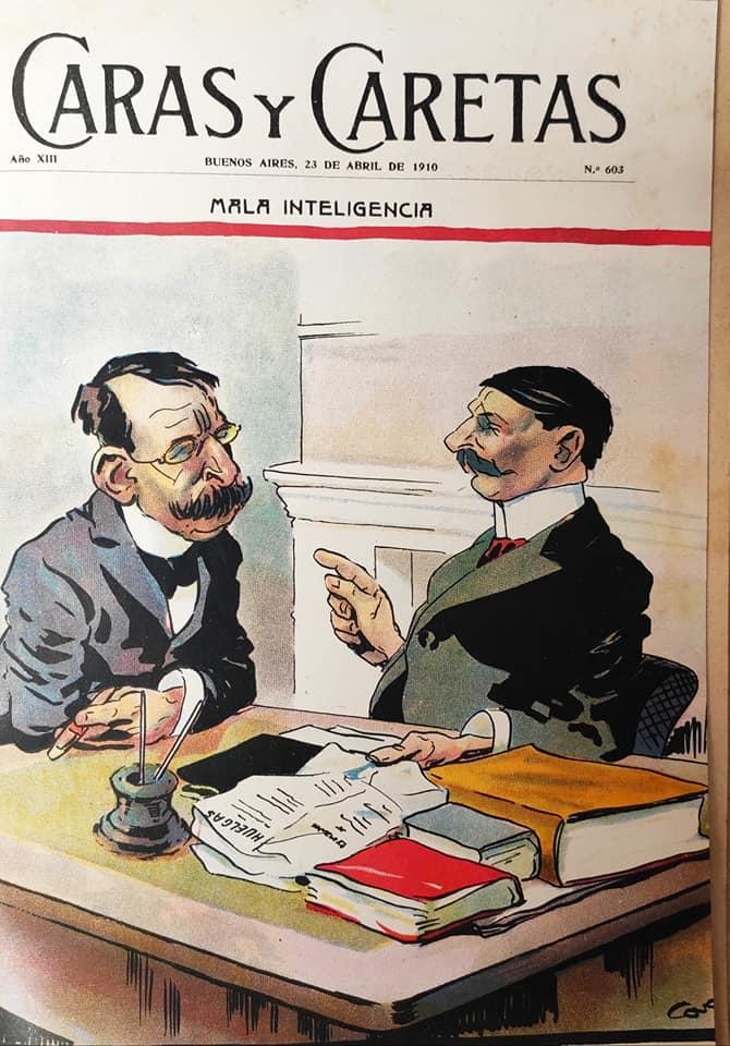 Cao Luaces toon - caras & Caretas 1910