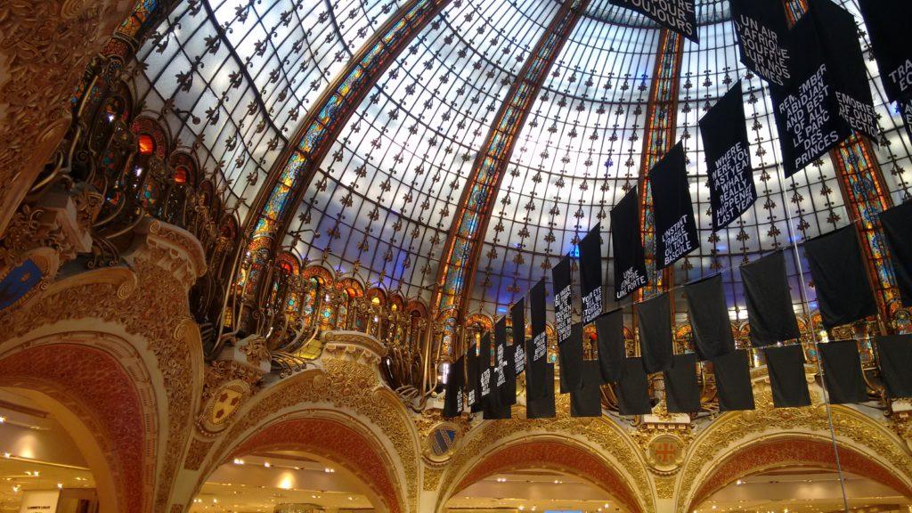 galleries lafayette paris in three days first day