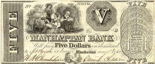 Spanish Pillar Dollar Manhattan Bank