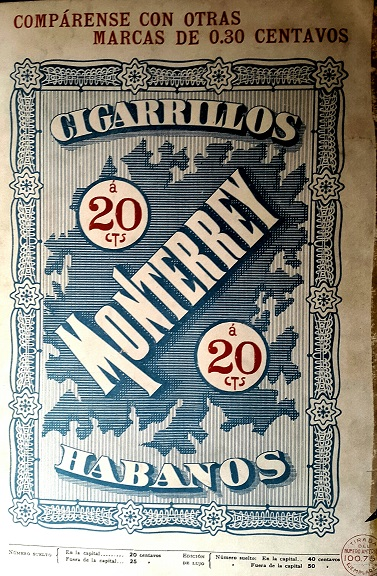 Vintage Ads in Spanish Monterrey Cigarettes