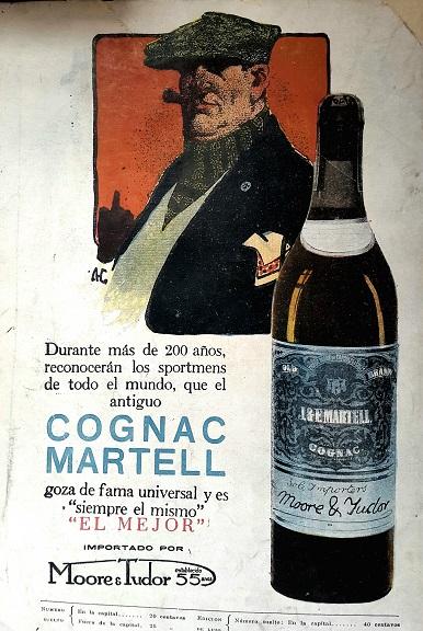 Vintage Ads in Spanish Cognac Martell