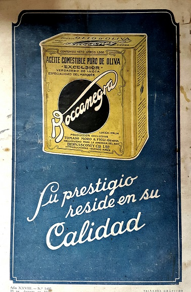 Vintage Ads in Spanish Olive OIL Boccanegra
