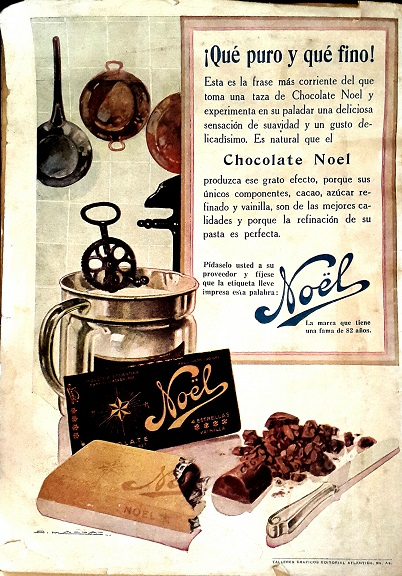Vintage Ads in Spanish Chocolate Noel