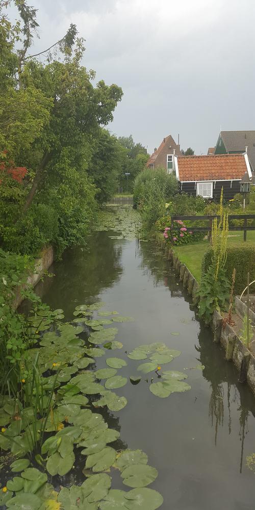 Channels of Windmill zaanse schans Holland