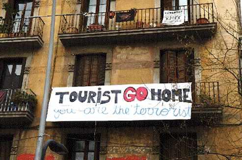 Barcelona Hate Tourist