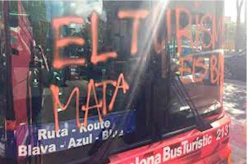 Vandal Barcelona Hate Tourist