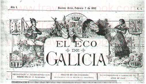 Eco de Galicia Newspaper - Founded by Jose Maria Cao Luaces