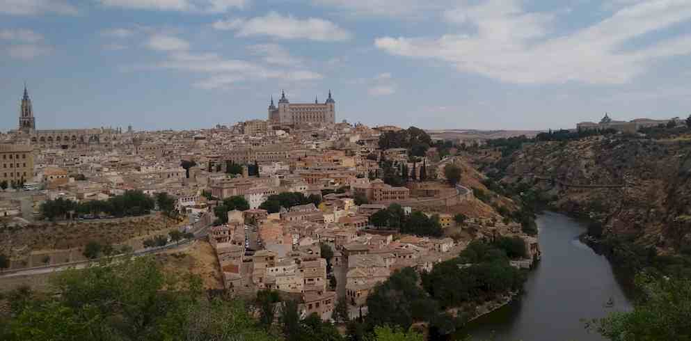 City of Toledo Landscape - One day in madrid