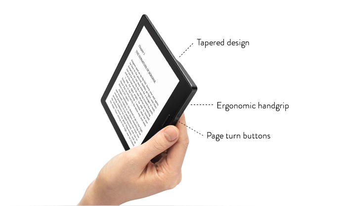 Useful Kindle Oasis eReader for Left-Handers