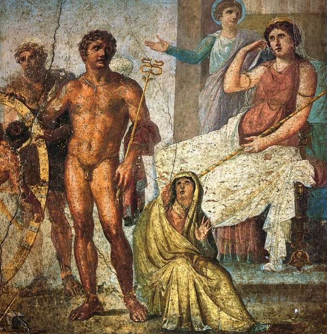 Punishment of Ixion: Walking erotic pompeii vettii house