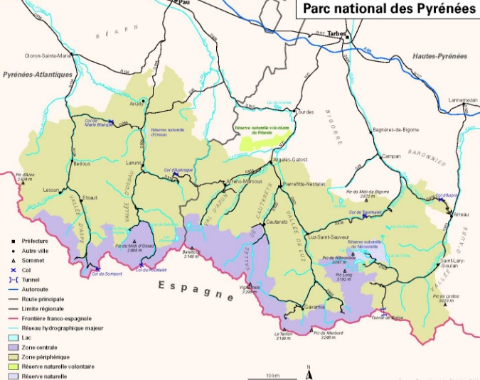 Park national of Pyrenees - guide to travel to France by Car