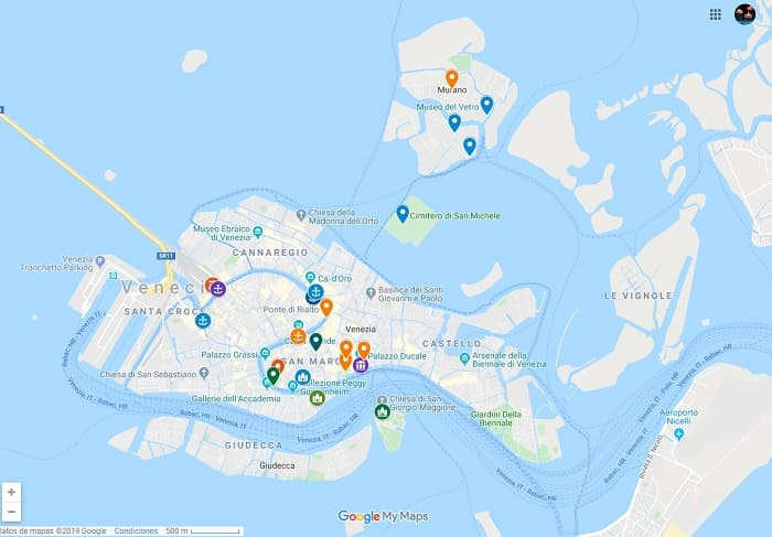 Venice two days map