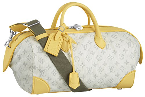 Monogram Denim Speedy Round - Yellow - Elegance, Charm and Style: Louis Vouton