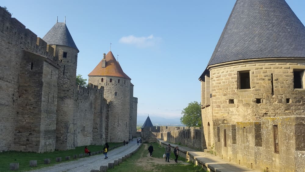 Several guard and defense towers of the first perimeter