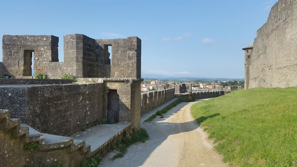 Internal view of the defense street between the first and second walls