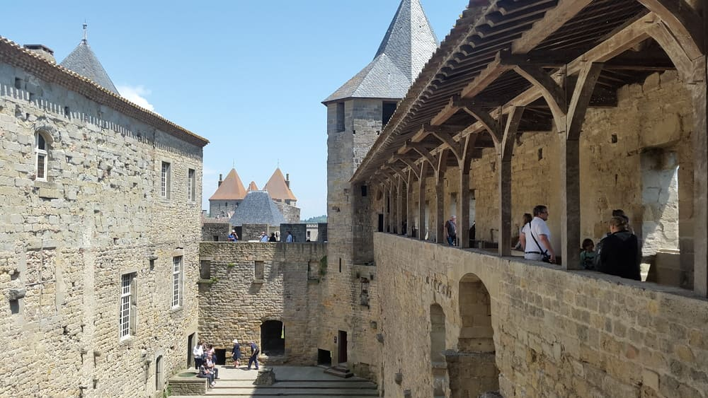 Main courtyard of the Condal Castle