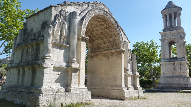 Triumph Arch in Via Domitia - Saint Remy de Provence - (France)- Tourism in Ancient Greece and Rome