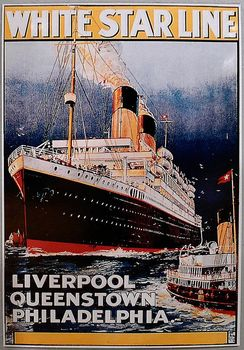 white star line Advertising & Travel at the Beginning of the 20th Century