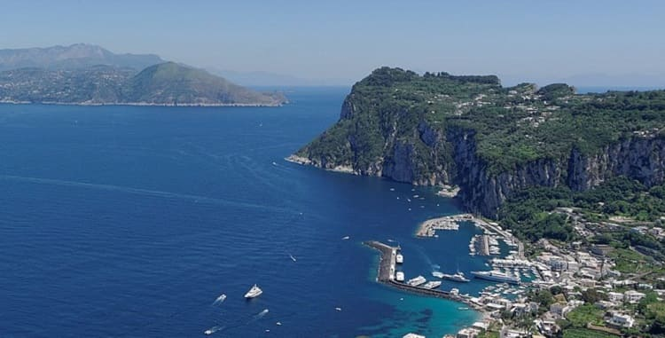 anacapri and . Capri Island to Fall in Love. Unforgettable Charm and Pleasure