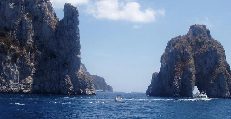 Ship trip. Capri Island to Fall in Love. Unforgettable Charm and Pleasure