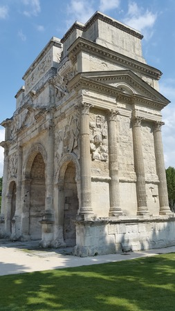 Triumph Arch in Via Agrippa - Orange - (France) Tourism in Ancient Greece and Rome