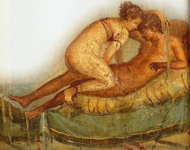 Centennial House - Fresco of the two lovers-Pompeii was really so obscene? Traveling to a Different Pompeii