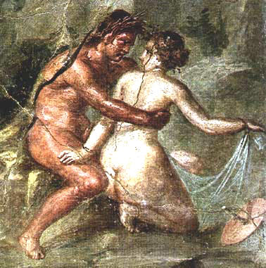 House of the Epigrama - Satyr that hugs a Nymph. -Pompeii was really so obscene? Traveling to a Different Pompeii