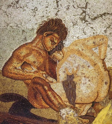 House of the Fauno -satyr and nymph-Pompeii was really so obscene?