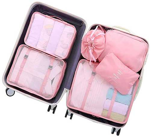 Luggage Packing Organizers Packing Cubes Set for Travel - Useful Travel Accessories for Women in 2019
