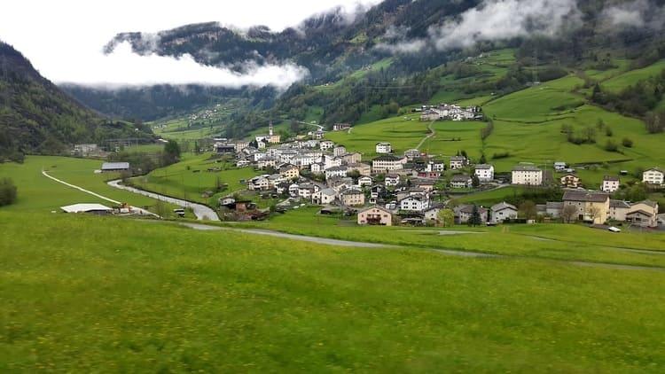 Meadows, Snow and Mountains in Saint Moritz