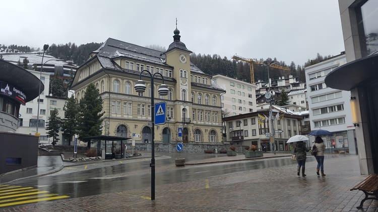 City -Meadows, Snow and Mountains in Saint Moritz