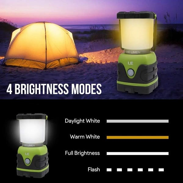 LED Camping Lantern Battery Powered LED -with 1000LM - camping Gear 2020
