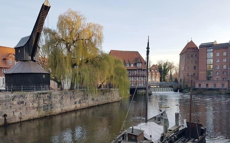 Medieval Treadwheel Cranes in Germany - Port of Luneburg