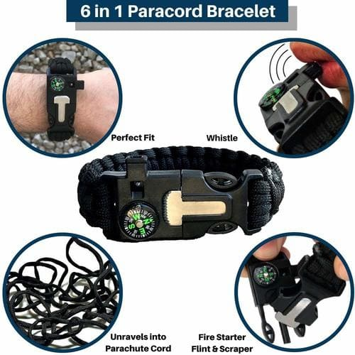 Outdoor Survival Gear - paracord bracelet