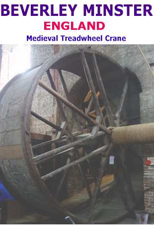 Beverley minster treadwheel crane england
