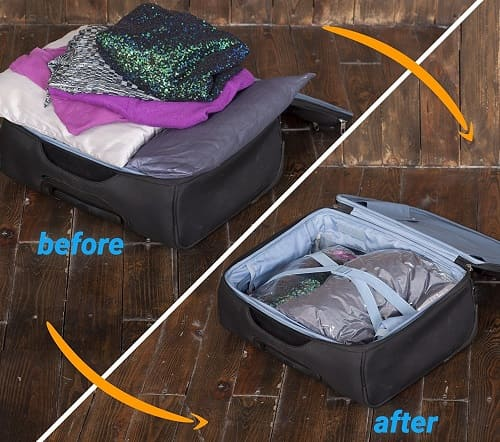 Travel Storage bags - no pump needed - Travel Gadgets 2020