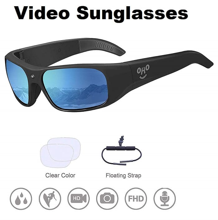Waterproof Video Sunglasses- Travel Gadgets 2020