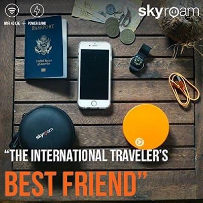 travel gadgets 2019- WiFi Hotspot & Power Bank Global SIM