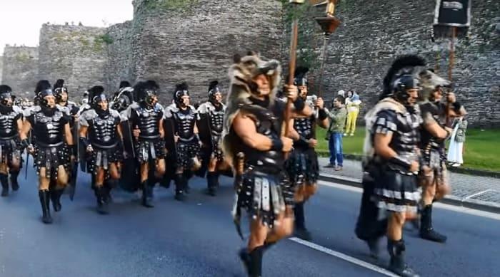 Ancien Roman troops Arde Lucus 2020
