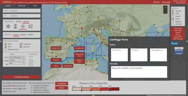Roman Empire: Road and Trade Network