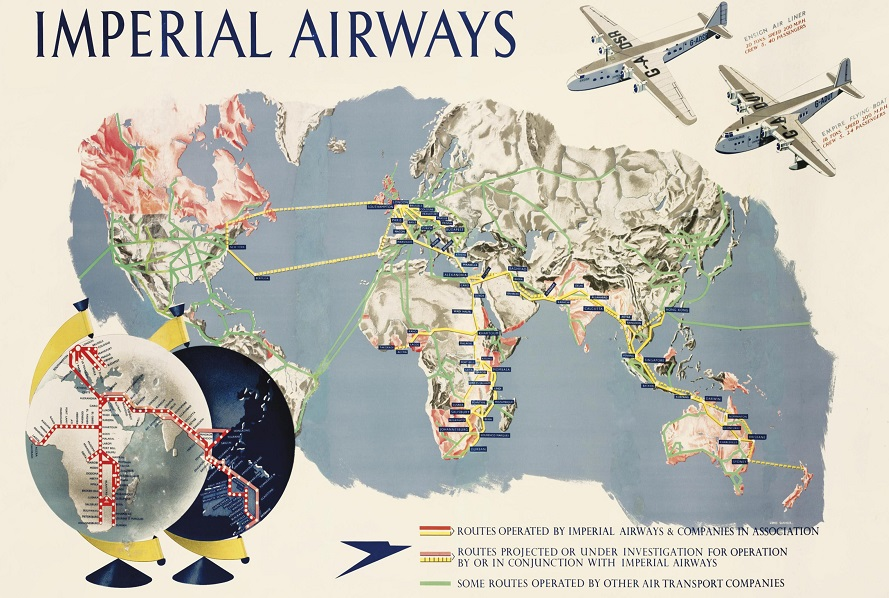 History of Vintage Travel Ads: Imperial Airways