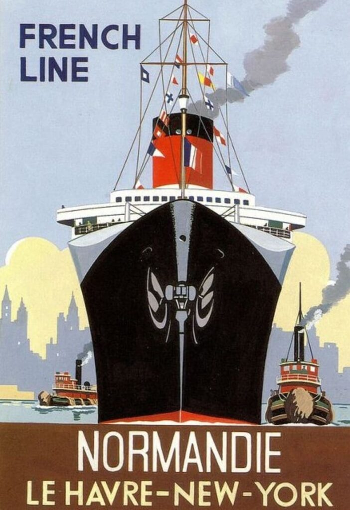 Normandy - History of Vessels travel ads