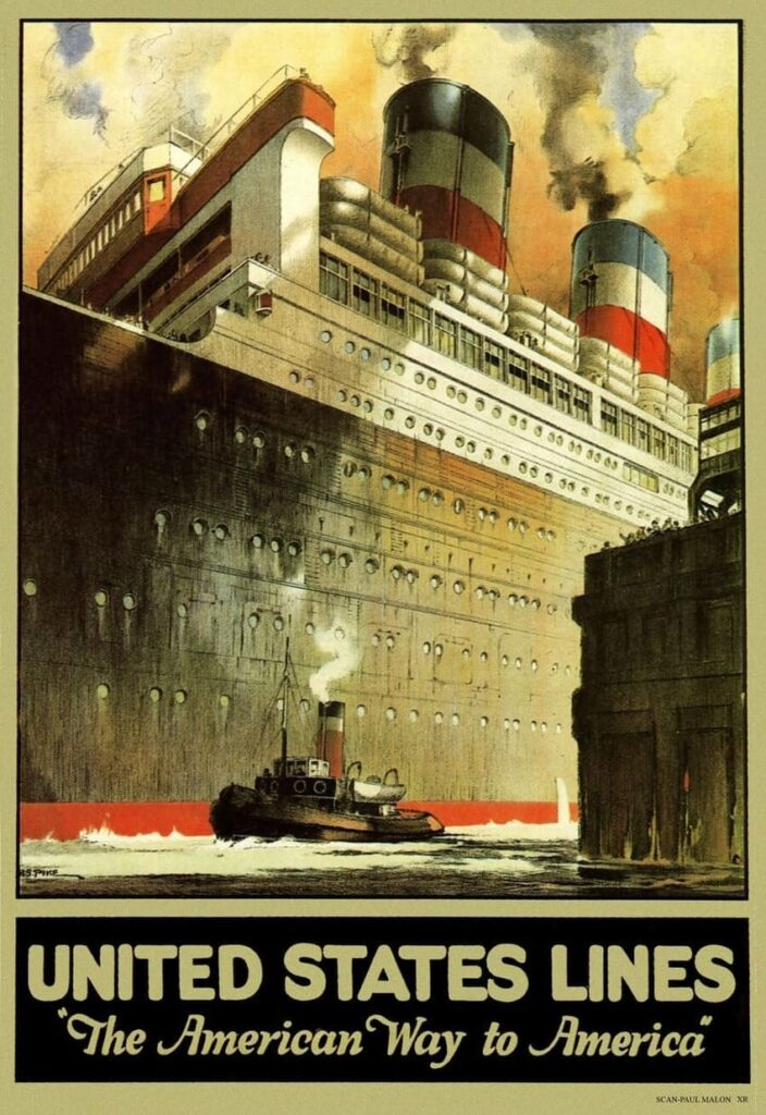 History of Vessels travel ads 1890-1930