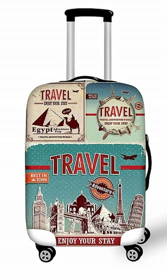 Luggage cover vintage