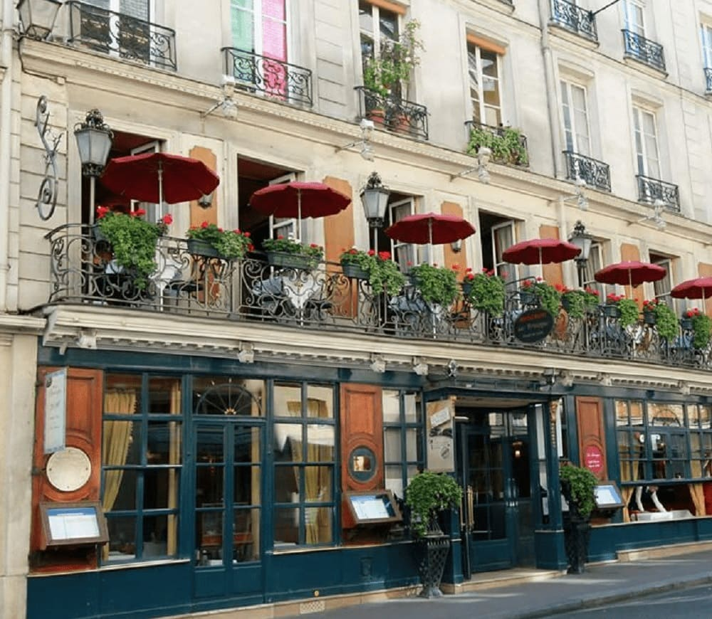 Front of Procope Coffee Shop in Paris France